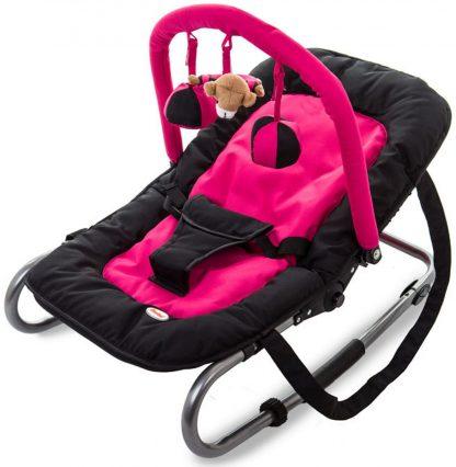 Baninni Wipstoeltje de Luxe met Speelboog - Hippo Black/Pink