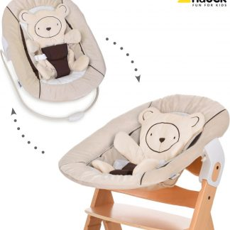 Hauck Alpha Newborn bouncer 2 in 1 - Wipstoeltje - Hearts Beige