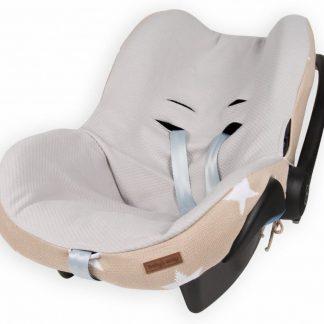 Baby's Only hoes voor autostoel Ster beige / wit