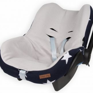 Baby's Only hoes voor autostoel Ster marine / wit