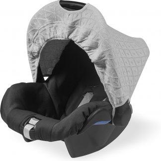 Jollein Diamond Knit - Zonnekap autostoel - Grijs