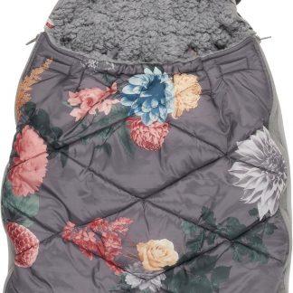 Lodger Mini Bunker autostoel voetenzak - bloemen donkergrijs