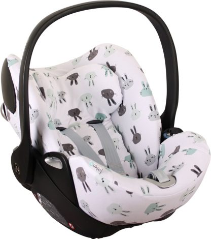 UKJE.NL Hoes zomerhoes autostoelhoes voor autostoel Cybex Cloud Q - Lieve konijntjes ♥