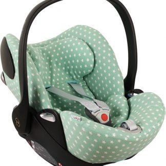 UKJE.NL Hoes zomerhoes autostoelhoes voor autostoel Cybex Cloud Q - Mint met sterretjes ♥