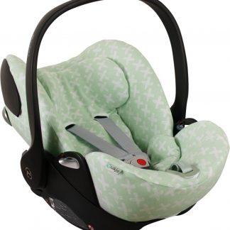 UKJE.NL Hoes zomerhoes autostoelhoes voor autostoel Cybex Cloud Q - Mintgroen met witte kruisjes ♥