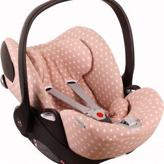 UKJE.NL Hoes zomerhoes autostoelhoes voor autostoel Cybex Cloud Q - Oudroze met sterretjes ♥