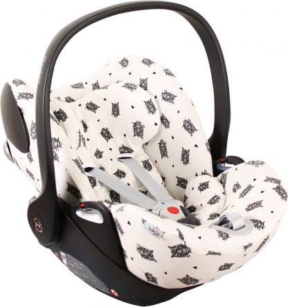 UKJE.NL Hoes zomerhoes autostoelhoes voor autostoel Cybex Cloud Q - Wit met uiltjes design ♥