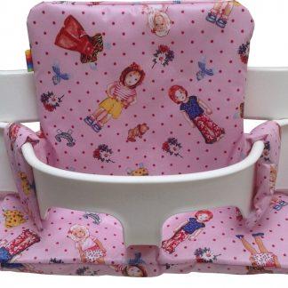 Geplastificeerd kussenset voor de Tripp Trapp kinderstoel van Stokke - Dress roze