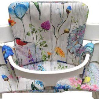 Geplastificeerd kussenset voor de Tripp Trapp kinderstoel van Stokke - Flowers