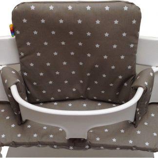 Geplastificeerd kussenset voor de Tripp Trapp kinderstoel van Stokke - Little star taupe