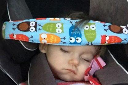 Hoofdbeschermer voor kinderstoel in auto - Bescherm kinderen op achterbank - Blauwe uilen