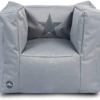 Jollein - Kinderstoel Beanbag - Faded Star - Grijs