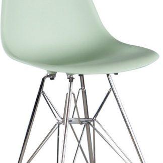 Kinderstoel in Mint Groen - Chroom Onderstel