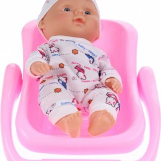 Toi-toys Babypop Met Kinderstoel - Print