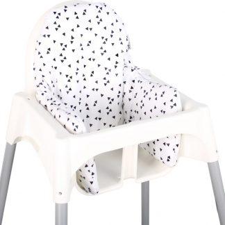 Ukje.nl Kussen voor kinderstoel Ikea Antilop - Zwart driehoekjes ♥