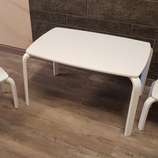 Playwood - Set tafel met 2 stoelen - Set kindertafel met 2 kinderstoelen - Wit