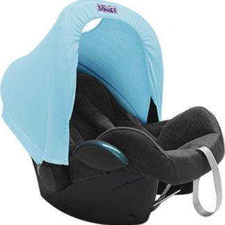 Dooky Hoody - Zonnekap autostoel - Baby Blauw