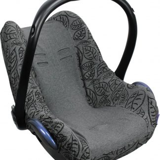 Dooky Seat Cover 0+ Autostoel hoes - Grey Leaves
