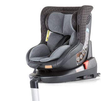 Autostoel Toledo isofix grijs 0-18 kg 360 graden draaibaar
