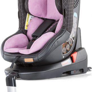 Autostoel Toledo isofix roze 0-18 kg 360 graden draaibaar