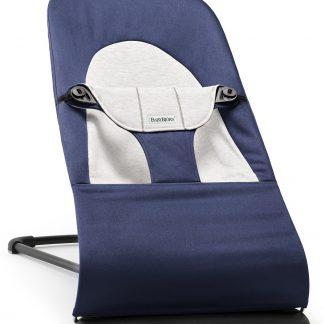 Babybjorn Wipstoeltje Balance Soft blauw grijs Cotton Jersey
