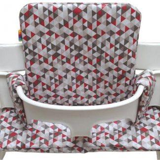 Geplastificeerd kussenset voor de Tripp Trapp kinderstoel van Stokke - Driehoekjes taupe