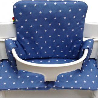 Geplastificeerd kussenset voor de Tripp Trapp kinderstoel van Stokke - Little star blauw