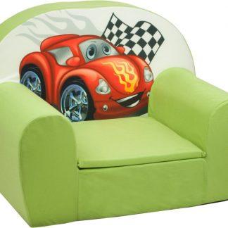 Luxe kinderstoel - zetel - sofa - 60 x 45 - groen cars