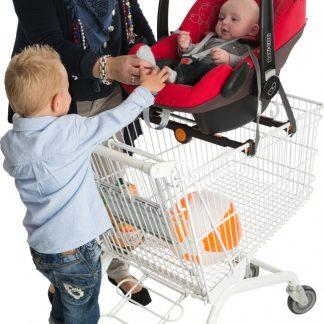 Pippi-carrier - Drager voor autostoel op winkelwagen - Roze Jasje