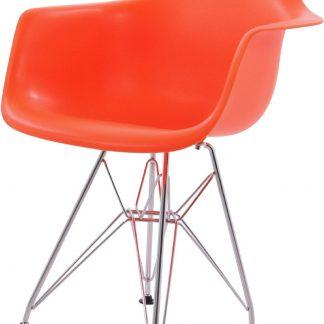 Design kinderstoel DD DAR Junior neon oranje kuipstoel