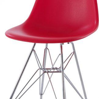 Design kinderstoel DD DSR Junior rood kuipstoel