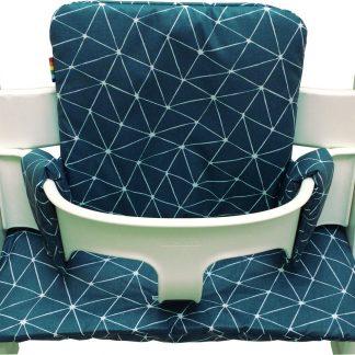 Geplastificeerd kussenset voor de Tripp Trapp kinderstoel van Stokke - Origami petrol blauw