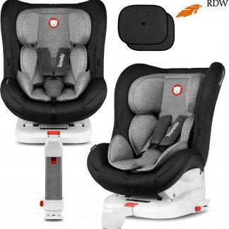 Lionelo Lennart - Autostoel Isofix - 0-18kg met support leg - voor- en achterwaartse richting - Carbon grijs