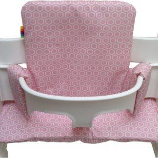 Geplastificeerd kussenset voor de Tripp Trapp kinderstoel van Stokke - Bees roze