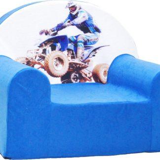 Kinderfauteuil / kinderstoel / peuterstoel - Blauw Quadrijder