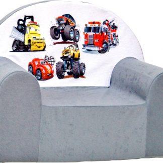 Kinderfauteuil / kinderstoel / peuterstoel - Grijs Cars