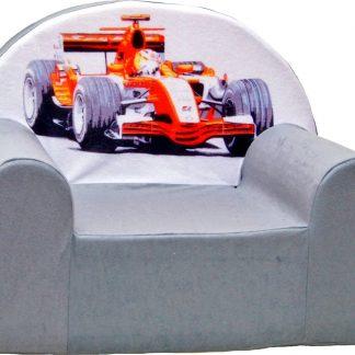 Kinderfauteuil / kinderstoel / peuterstoel - Grijs Formule 1