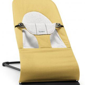 BABYBJÖRN Wipstoeltje Balance Soft, Geel/Grijs, Cotton/Jersey