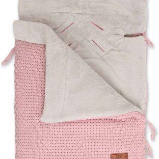 Baby's Only voetenzak autostoel 0+ stoer korrel oud roze