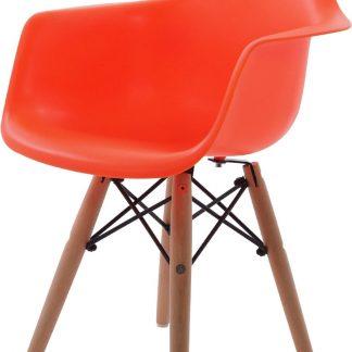 Design kinderstoel DD DAW Junior neon oranje kuipstoel