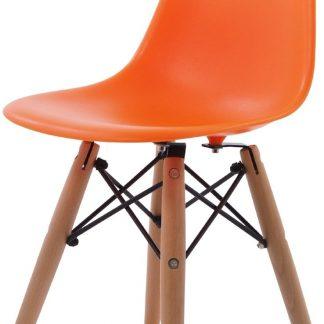 Design kinderstoel DD DSW Junior oranje kuipstoel