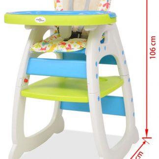 Kinderstoel verstelbaar 3 in 1 met blad + Baby Knuffeldoek / Premium Verstelbare kinderstoel