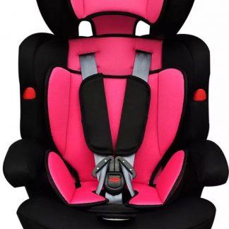 Autostoel met Ligstand Roze Zwart - Kinderstoel Auto - Autostoel meisjes