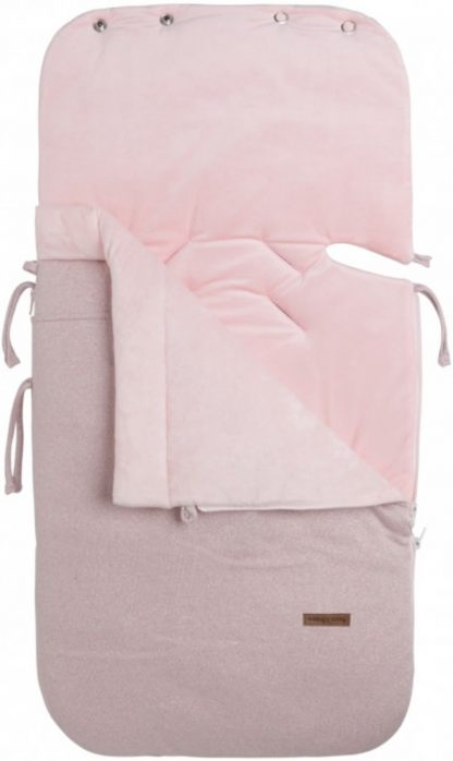 Baby's Only Voetenzak autostoel 0+ Sparkle zilver-roze mêlee