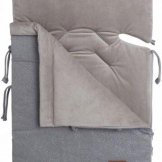 Baby's Only Voetenzak autostoel 0+ Sparkle zilvergrijs mêlee