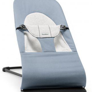 BABYBJÖRN Wipstoeltje Balance Soft, Blauw/Grijs, Cotton/Jersey