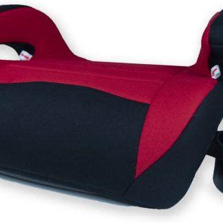 BXS Zitverhoger Auto Met 2 Inklapbare Bekerhouders - Autozitje - Zwart/Rood - Groep 3 - Fleshouder - Stoelverhoger- Kleuter - Peuter- Kinderen