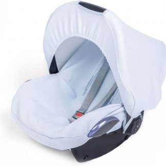 Baby Anne-Cy Herringbone Autostoel Zonnekap - Soft Blue