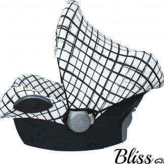 Bliss Maxi Cosi Autostoel Zonnekap - Raster