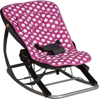 Inlegkussen wipstoeltje Bouncer Dots - roze